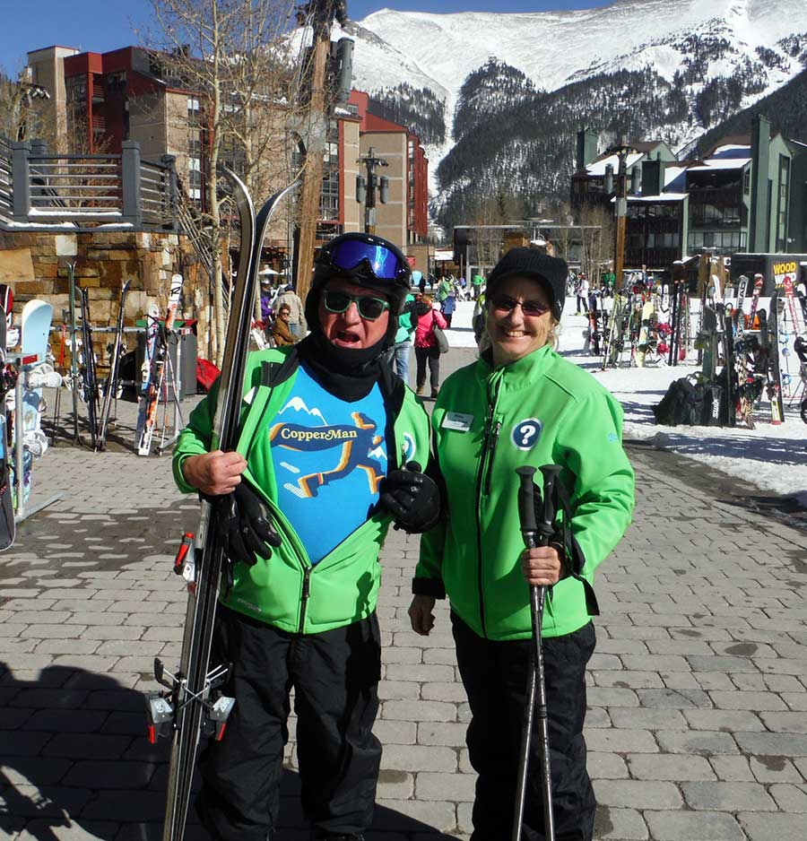 Two ambassadors pose for the camera at Copper Mountain