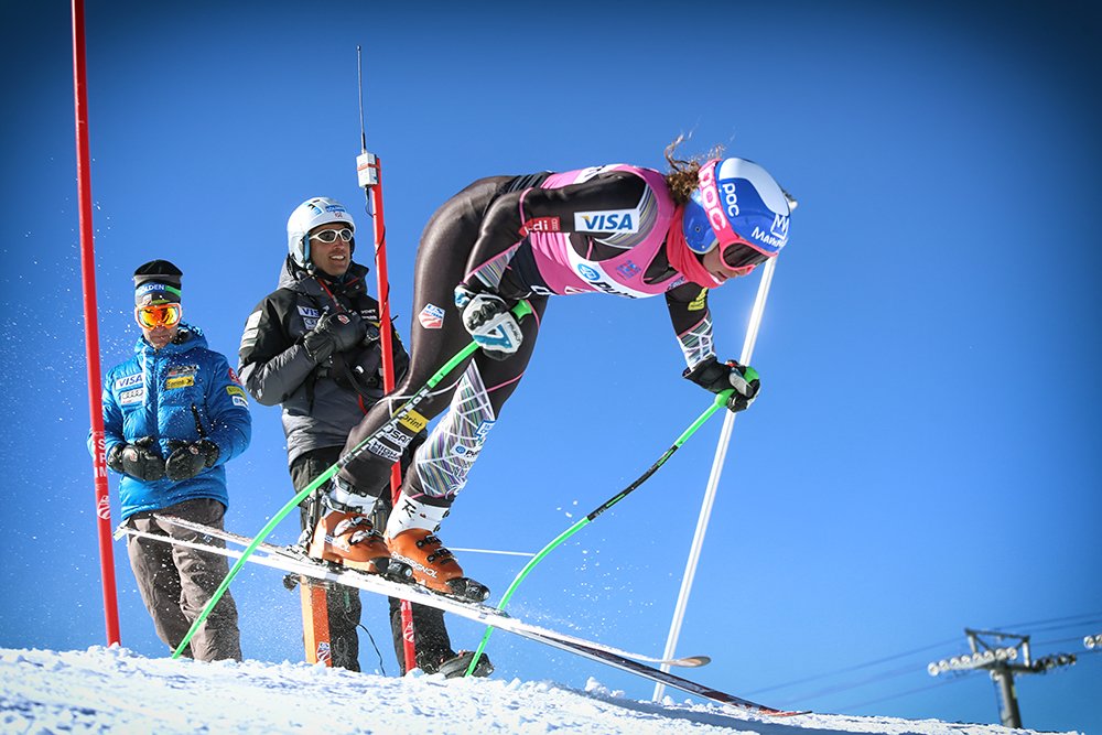 U.S. Ski Team Olympian Stacey Cook takes to the snow at the U.S. Ski Team Speed Center at Copper Mountain