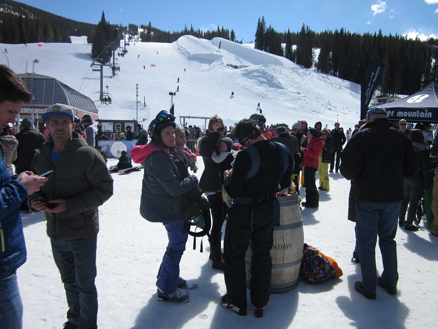 A crowd gathered for the 2018 Copper Uncorked event at Copper Mountain