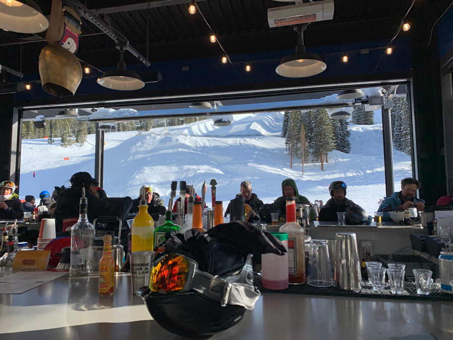 A view from the bar at Downhill Duke's at Copper Mountain