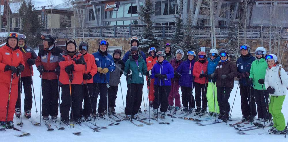 Group of Over the Hill Gang Skiers at Copper Mountain